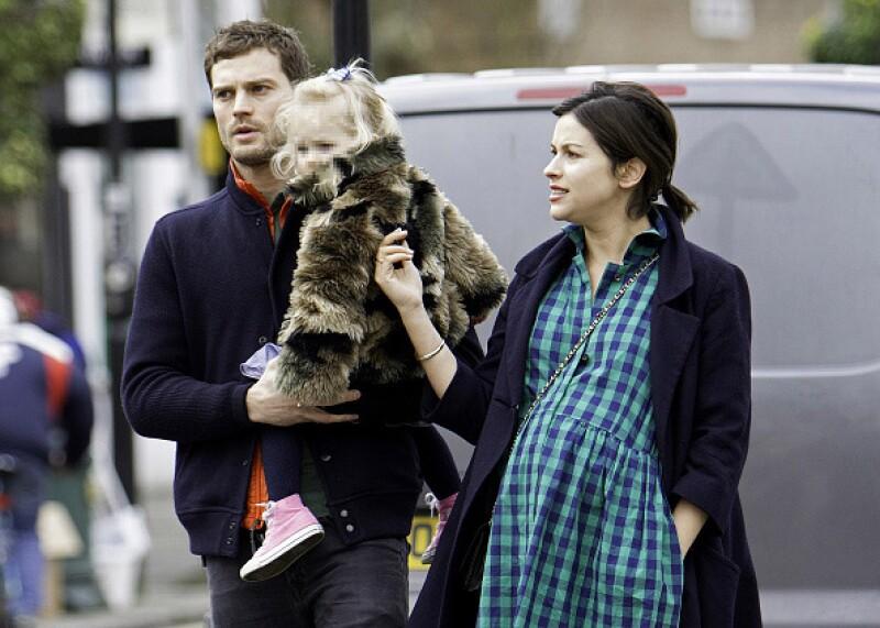 Así lucían hace un par de semanas, antes de dar la bienvenida a su niña.