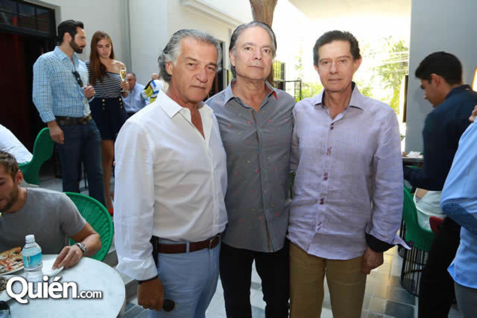 Ricardo Elías,Jaime Sahagún y Carlos Benh