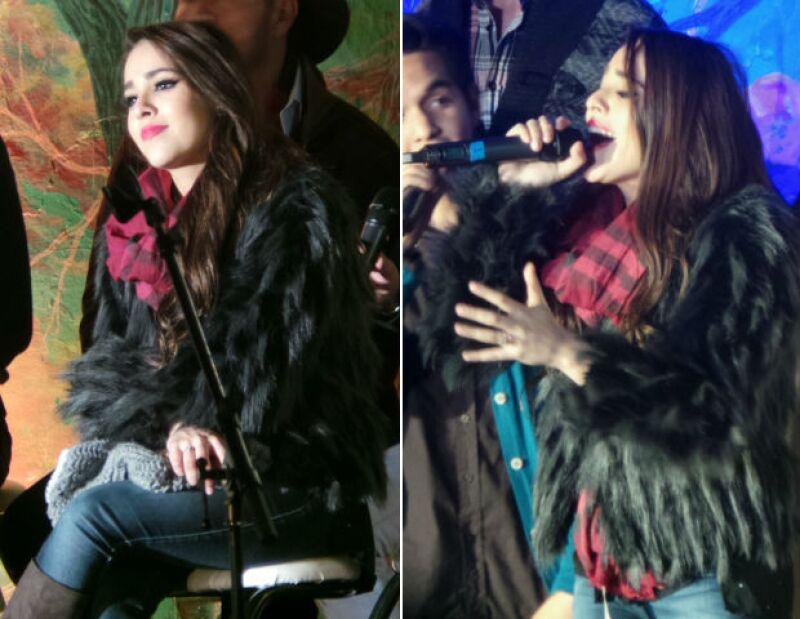 Danna Paola celebró Navidad junto a sus fans.