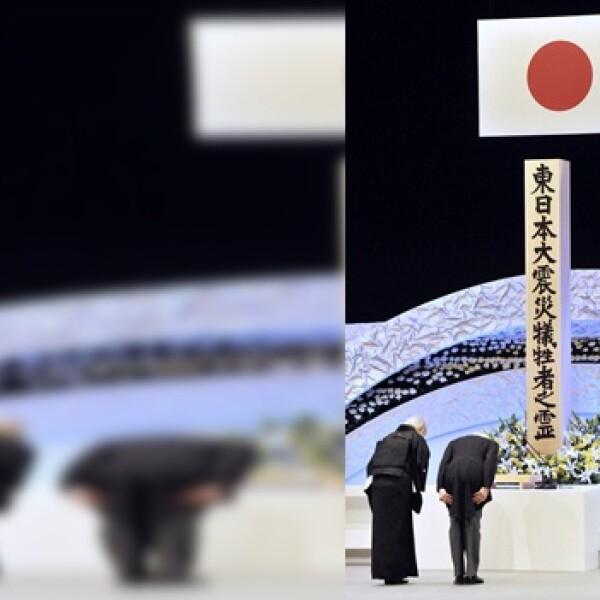 los emperadores de japon hacen reverencia en acto para conmemorar el terremoto y el tsunami