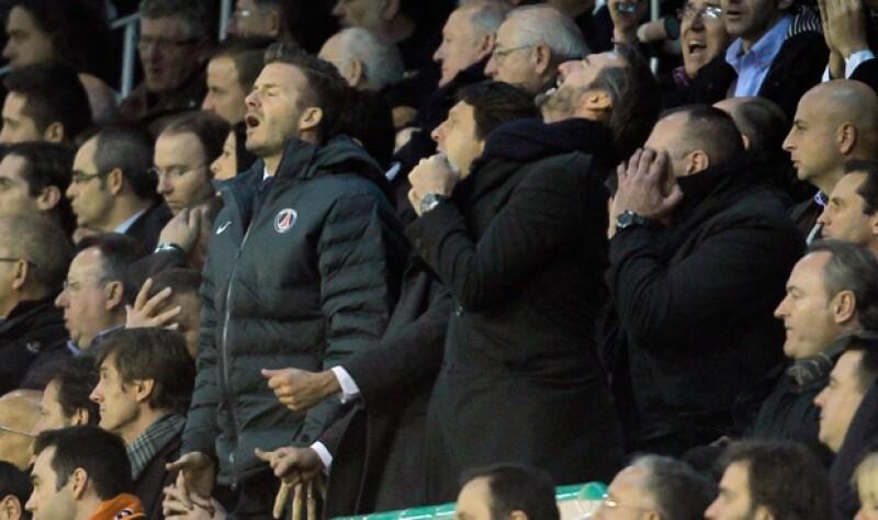 David hizo un sinfín de gestos en el partido.