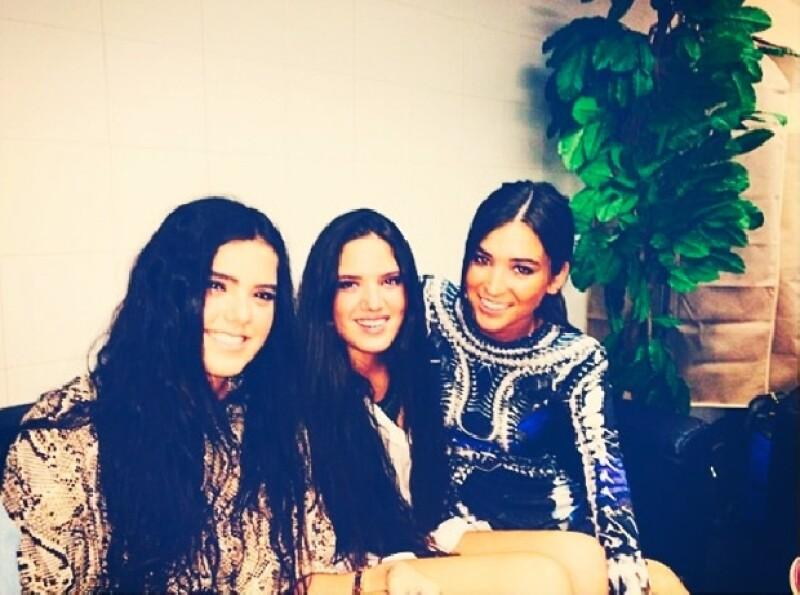 América, Camila y Karla en Madrid.