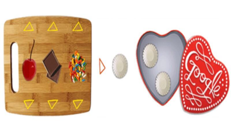 En el doodle puede mezclar ingredientes para hacer tus dulces. (Foto: tomada de google.com)