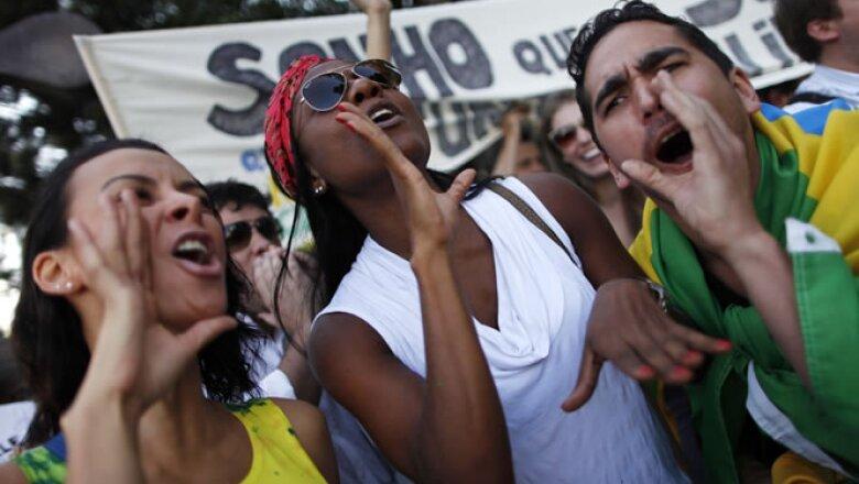 Aquí en México también hubo brasileños que se sumaron a las protestas de sus compatriotas.