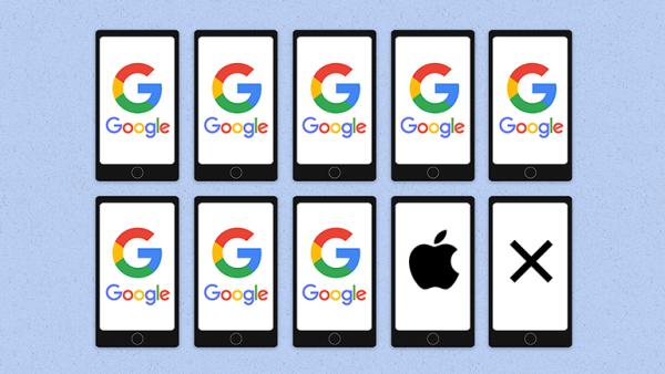 La UE señala que Google niega al consumidor una oferta más amplia de apps.