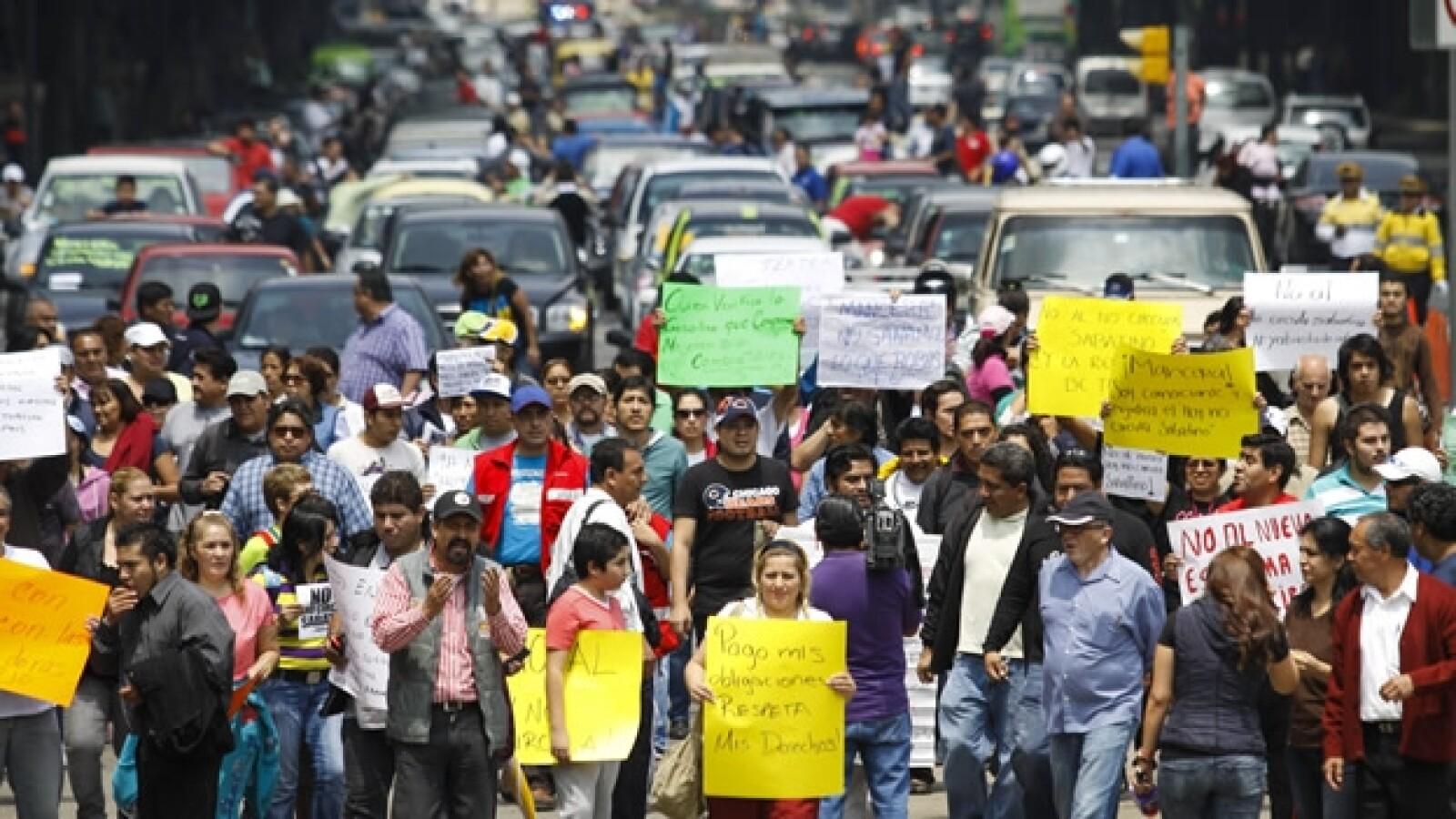 Protestas Hoy no circula