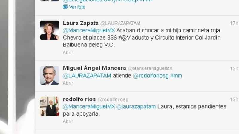 Estos fueron los mensajes entre Laura Zapata y Mancera.
