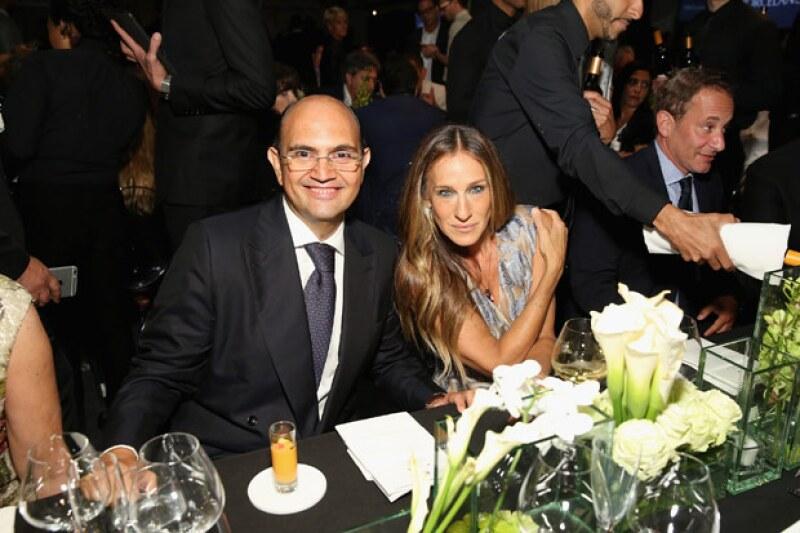 La actriz y protagonista de Sex And The City también estuvo presente en el evento luciendo despampanante al lado del Director General de Porcelanosa, Silvestre Segarra.