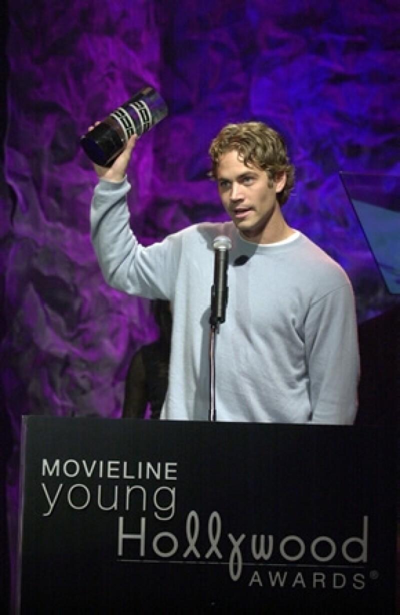 Paul Walker en los Movieline Young Hollywood Awards en 2001.