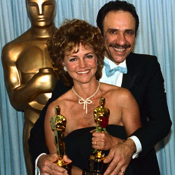 Frank M. Abraham and Sally Fields' with Oscars
