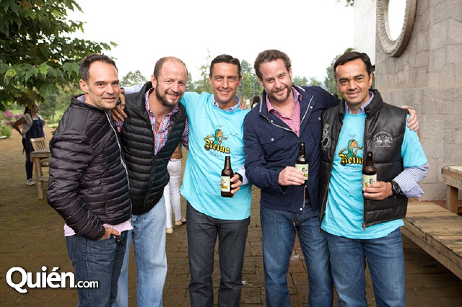 Waldemar Franco, Santiago de la Rosa, Juan Witt, Luis Lozada y Roberto Compeán