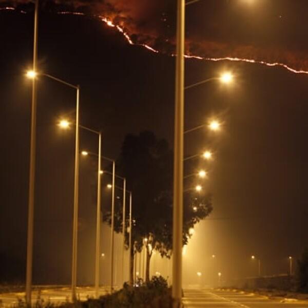 El incendio en La Primavera se aprecia desde Guadalajara