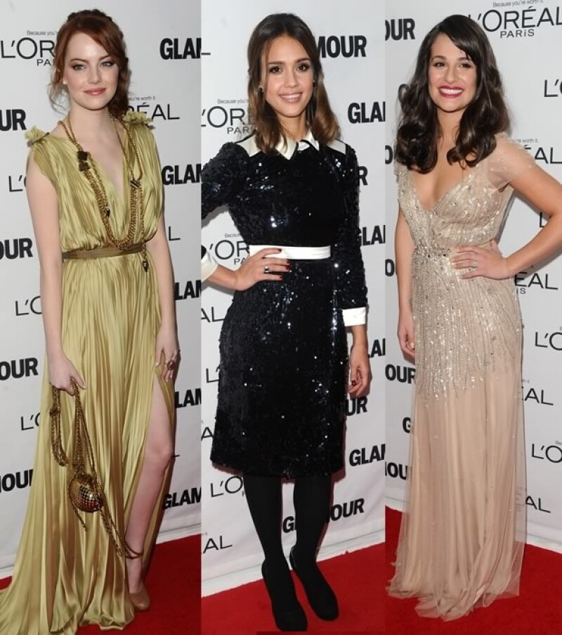 Emma Stone, Jessica Alba, Lea Michele.