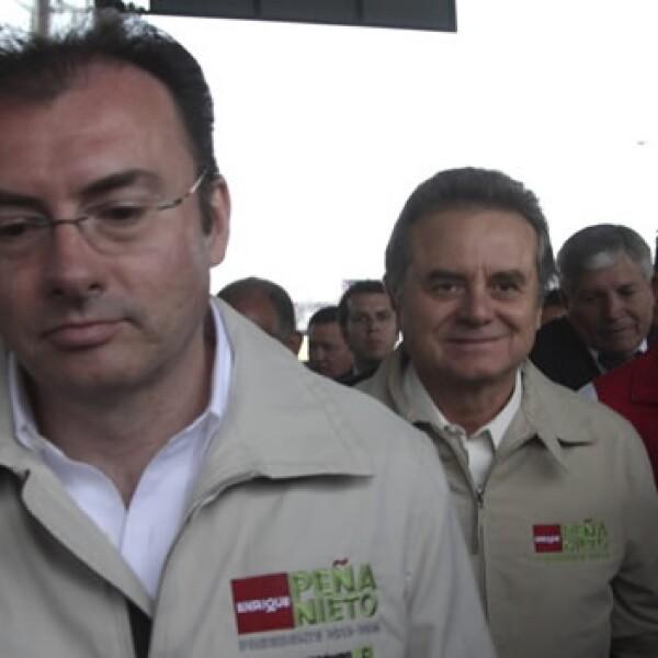 el coordinador de campaña de Peña Nieto y el presidente del PRI