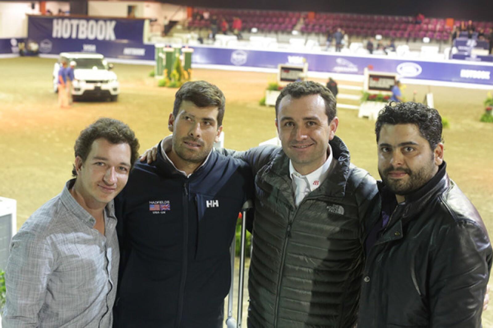 Gerardo Rodríguez,Salvador Oñate,Daniel Michán y Jorge Naser