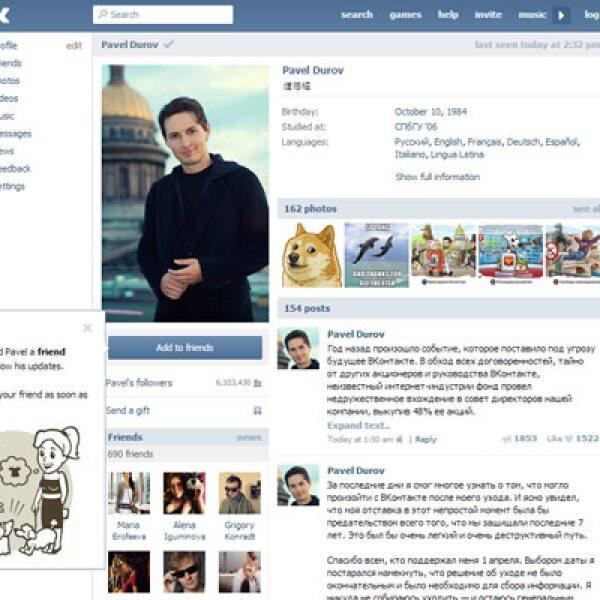 La red social fue fundada por el empresario ruso Pavel Durov.