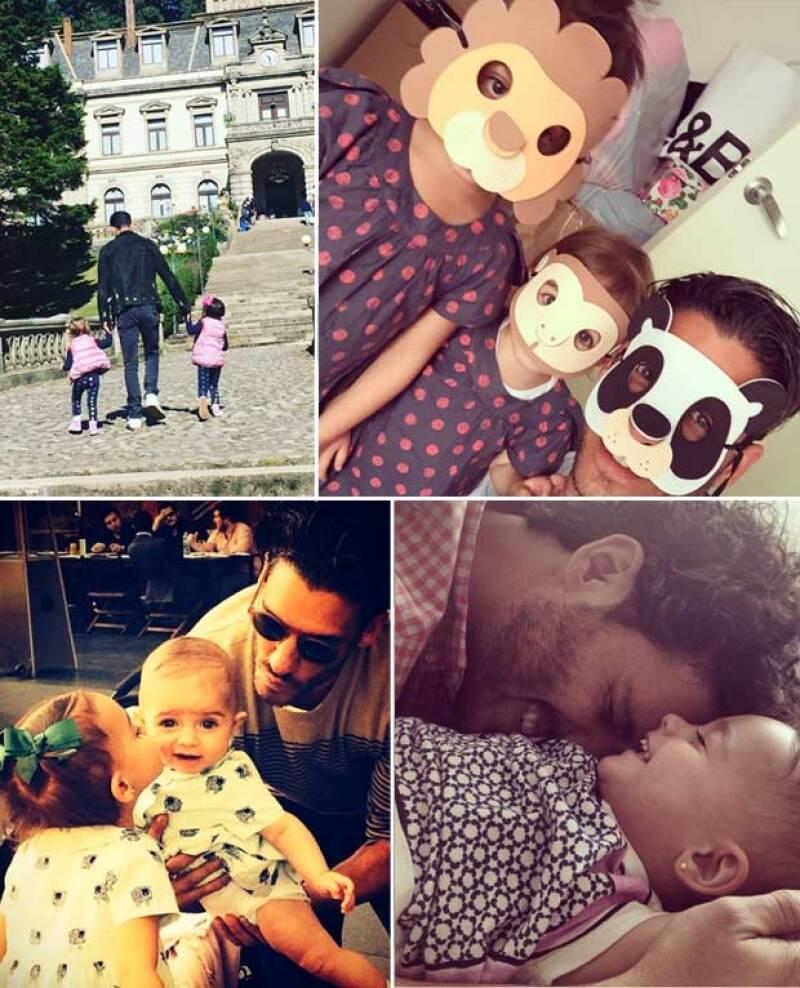 En más de una ocasión hemos visto a Erick presumir el gran amor que le tiene a sus hijas.