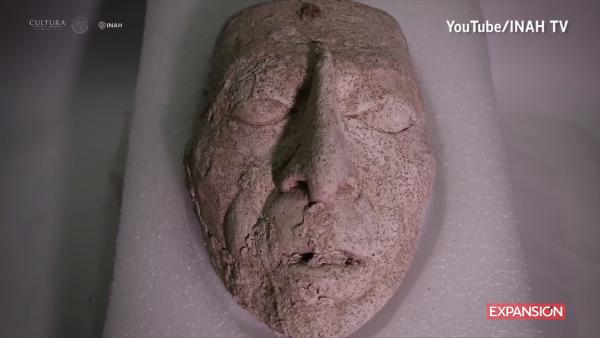 Conoce a K'inich Janaab' Pakal, la cabeza maya de estuco hallada en Chiapas