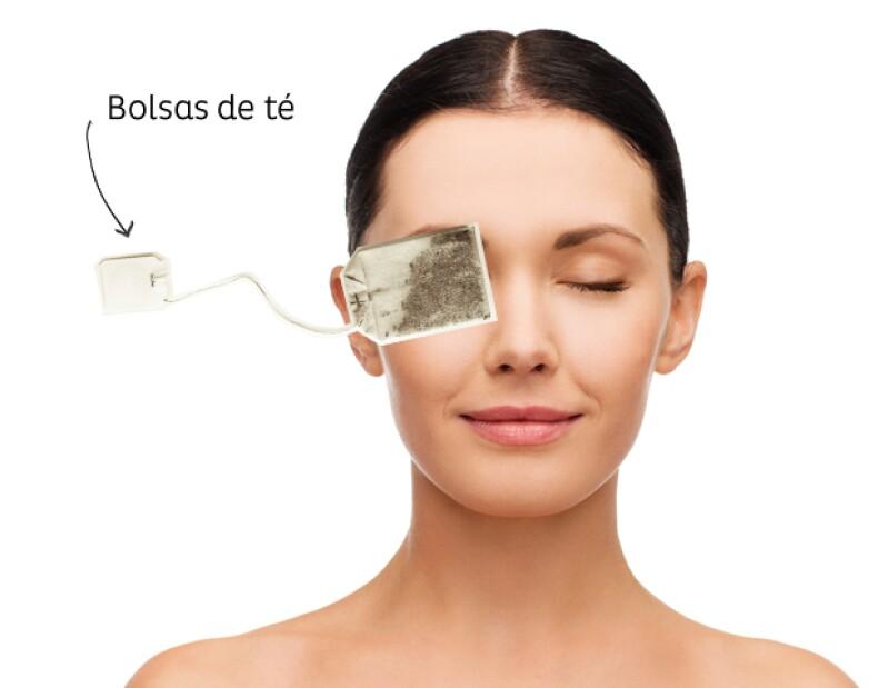 Las bolsas de té verde o té negro son ideales para deshinchar los ojos.