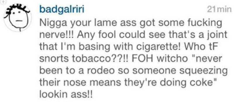 Un video publicado en redes sociales por una de sus amigas ha hecho especular si la cantante usa cocaína. Sin embargo, es la misma Rihanna quien lo desmiente.