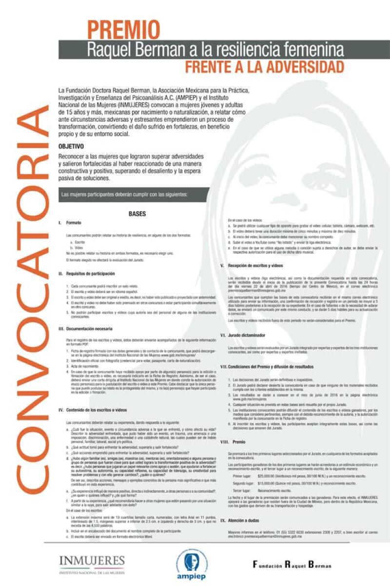 En la convocatoria puedes consultar todos los requisitos para concursar.