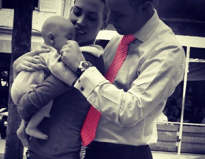 Su primogénito nació en febrero de 2012.