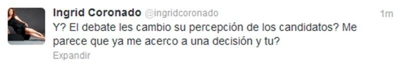 Ingrid Coronado.
