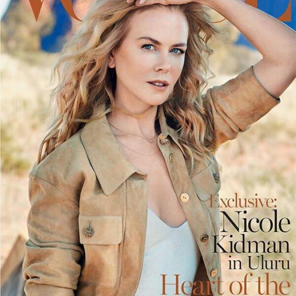 Nicole Kidman en la portada de Vogue Australia.
