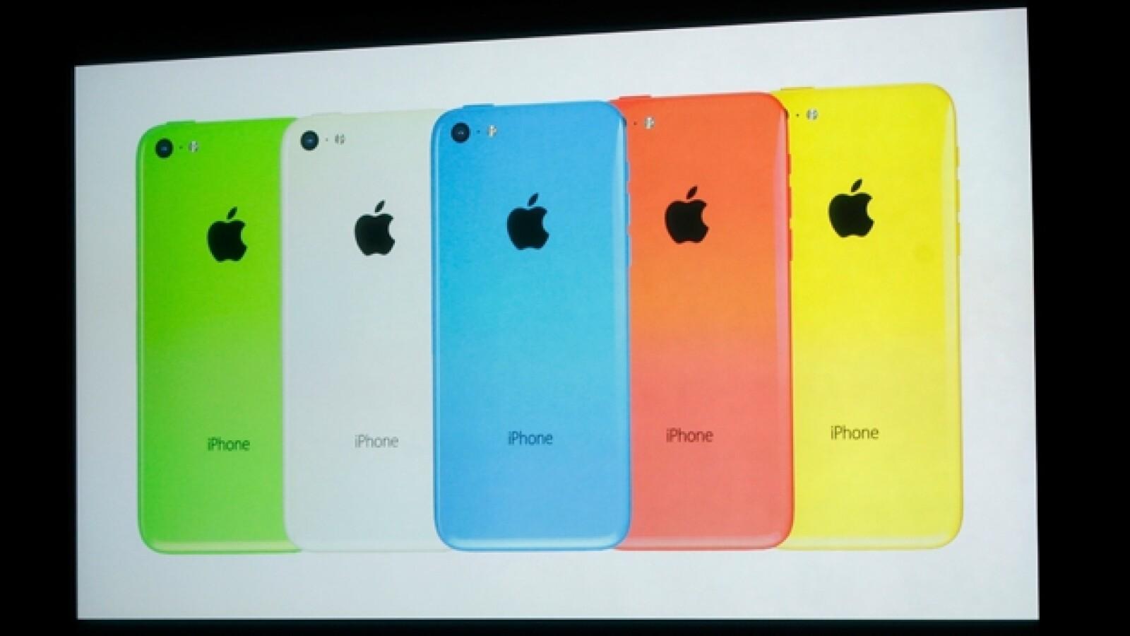 Apple iPhone 5C colores
