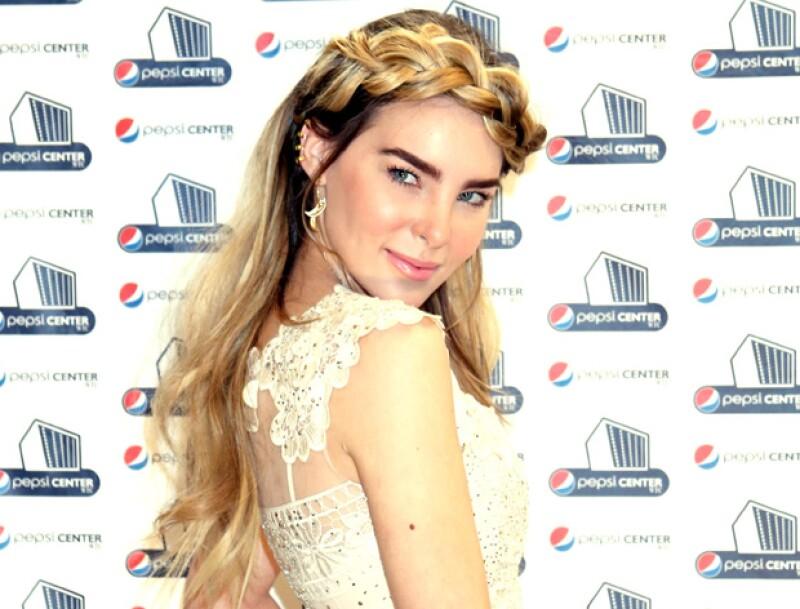 Belinda durante la conferencia de prensa que dio en el WTC con motivo de su próximo concierto en el Pepsi Center.
