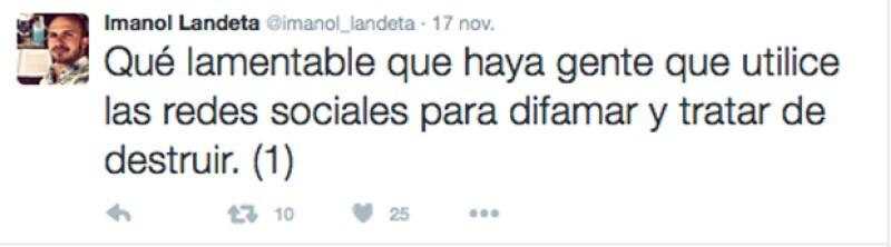 El actor explicó lo sucedido en su cuenta de Twitter, después de recuperarla.