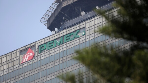A view of the headquarters of state owned oil company Pemex in Mexico City