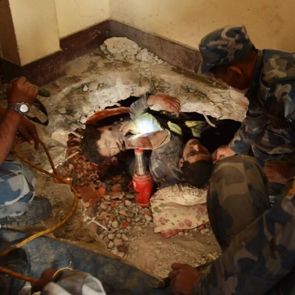 Sobreviviente rescate Nepal sismo