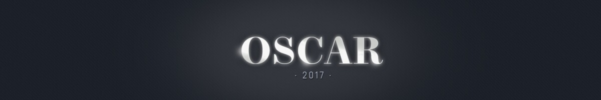 Oscar 2017 desktop header