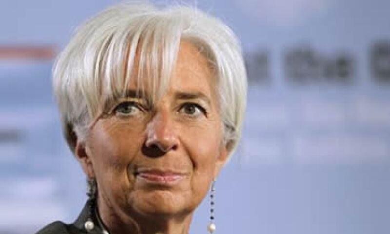 Christine Lagarde dijo que el plan de la eurozona era consistente con la estimación del FMI. (Foto: AP)