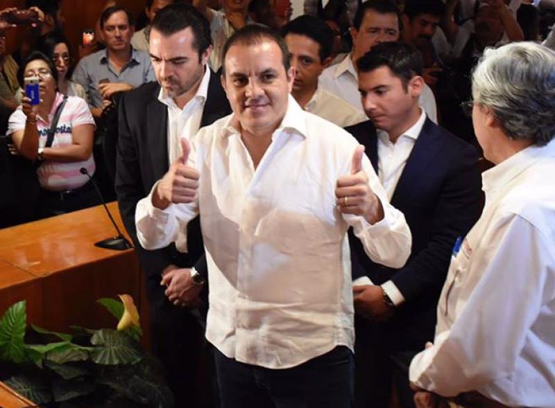 Cuauhtémoc Blanco, candidato de Morena tiene el 33.7% de las preferencias electorales en Morelos.