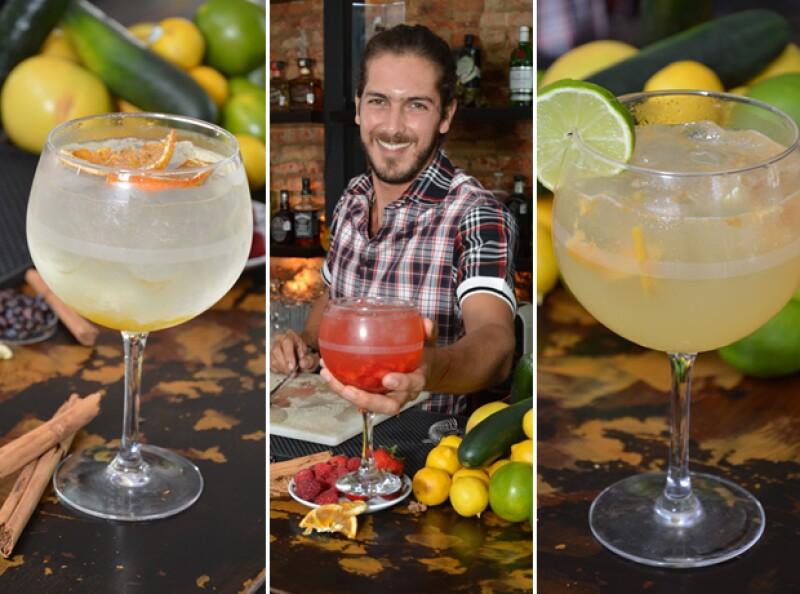 Los tres drinks que nos preparó el guapo tapatío