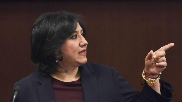 La Secretaria de la Función Pública, Irma Eréndira Sandoval, dio a conocer