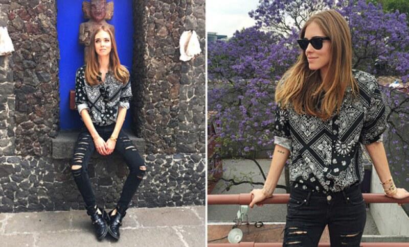 """La fashion blogger recibió anoche el premio a """"Beauty Icon 2015""""."""