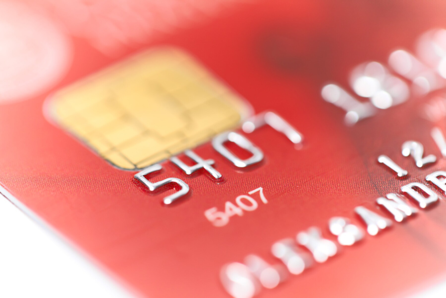 credit card with shallow DOF