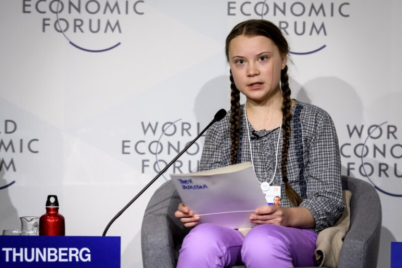 Davos cambio climático agenda