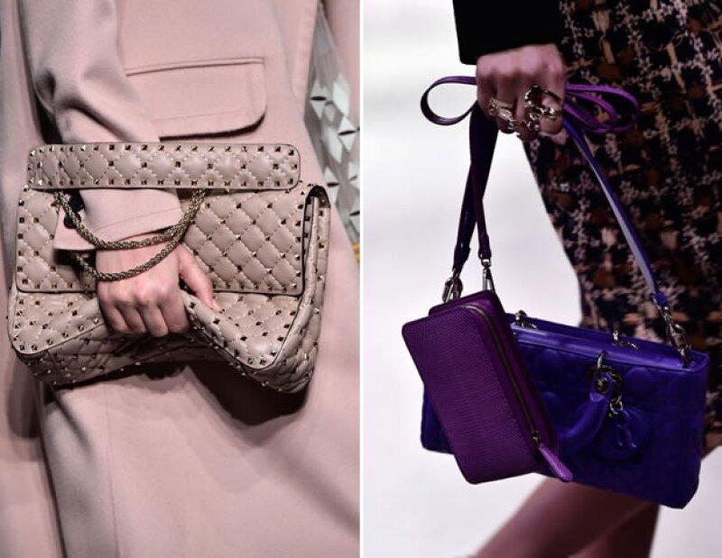 La época de Maria Grazia y Pierpaolo en Valentino vio nacer al afamado Rockstud (izq.). Sydney Toledano espera que ella evolucione los accesorios en Dior. (der.)