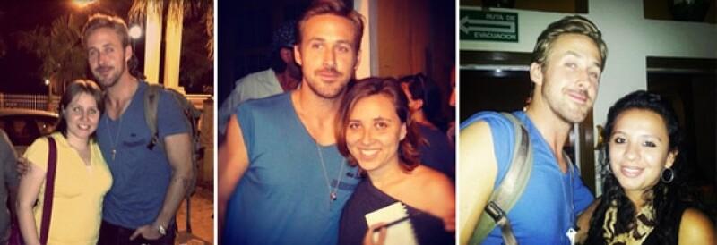El actor se mostró muy accesible para tomarse fotos con sus fans mexicanas.