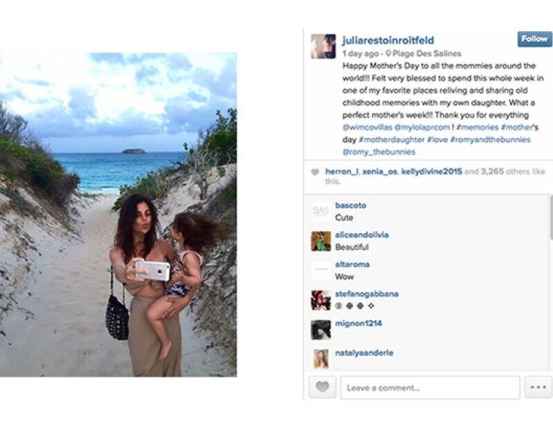 Leandra Medine mejor conocida como Man Repeller en la playa publicó ésta foto en la playa.