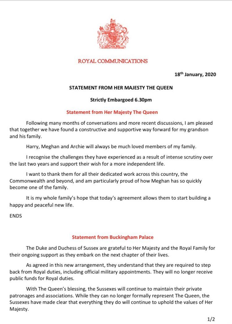 Comunicado Isabel II
