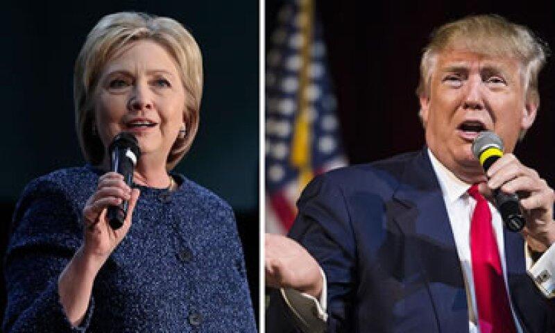 La aspirante demócrata y el magnate estadounidense se alzaron con la victoria este martes en las primarias de Estados Unidos. (Foto: Getty Images )