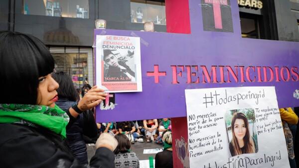 Marcha feminista por el feminicidio de Ingrid Escamilla