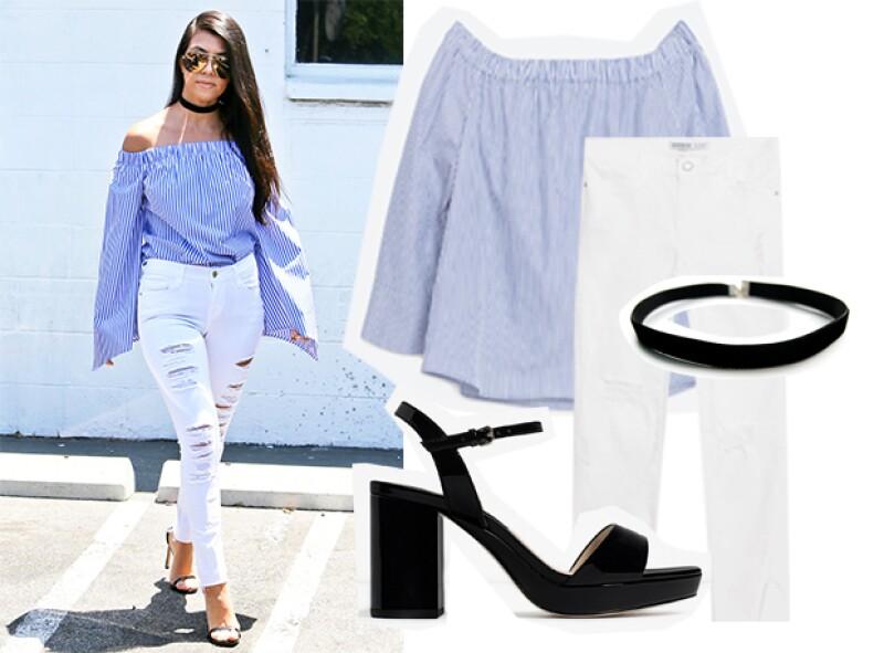 Camisa: Zara, Pantalón: Zara, Zapatos: Zara, Choker: Express