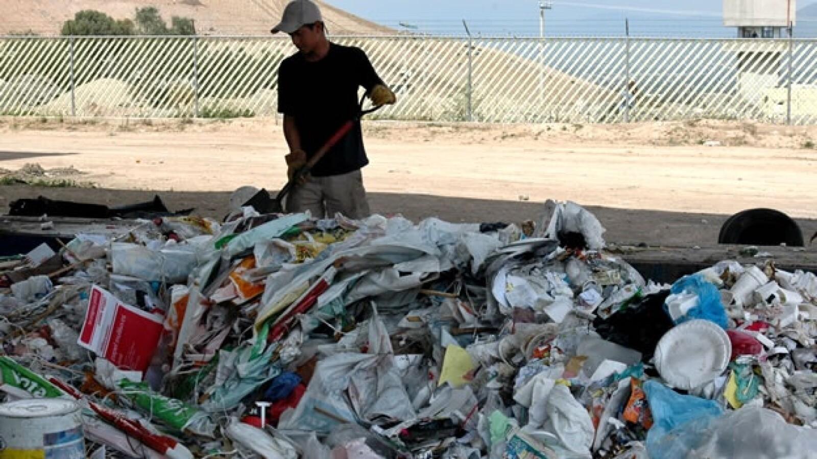 basura plástico desechos reciclaje