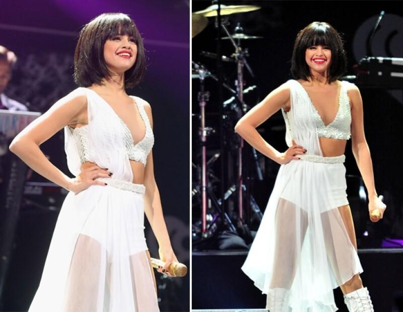 La cantante deleitó a sus fanáticos en un concierto navideño.
